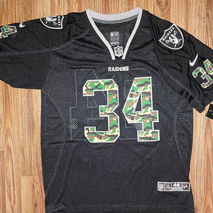 Bo Jackson Throwback Raiders Jersey Camo Stitched